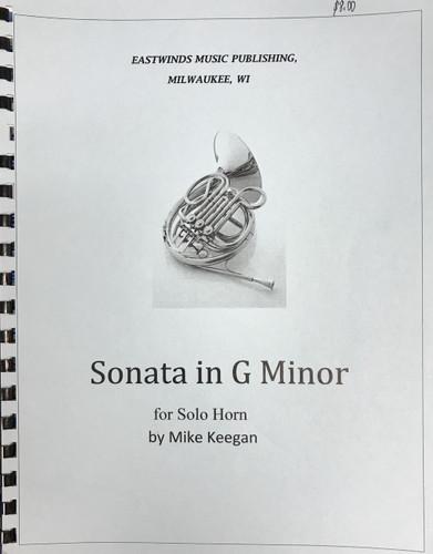Keegan, Mike - Sonata in G Minor for Solo Unaccompanied Horn (image 1)