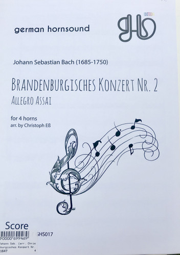 Bach, J.S. - Brandenburg Concerto No. 2