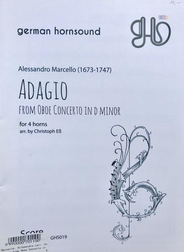 Marcello, Alessandro - Adagio from Oboe Concerto in D minor (image 1)