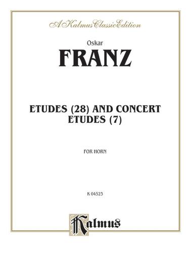 Franz, Oskar - Etudes (28) and Concert Etudes (7)