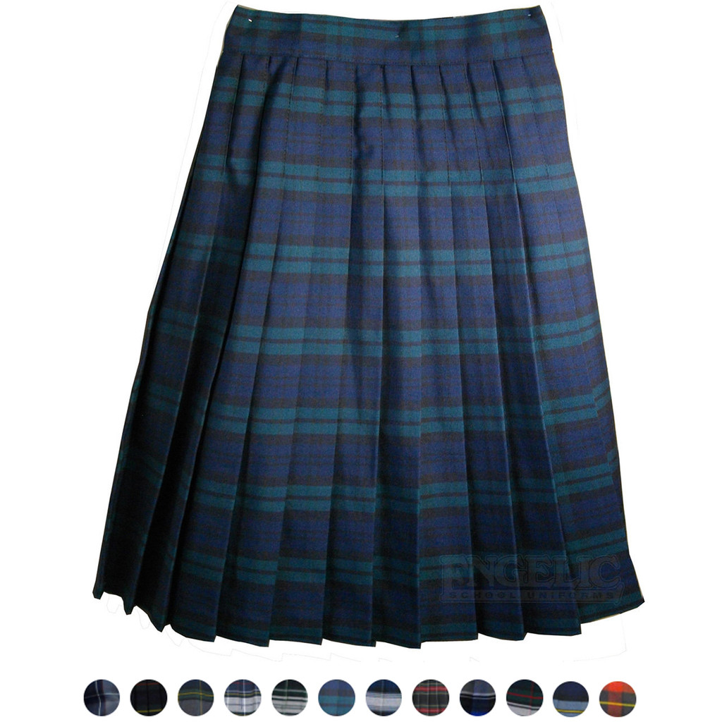 Girls School Uniform Plaid Pleated Skirt