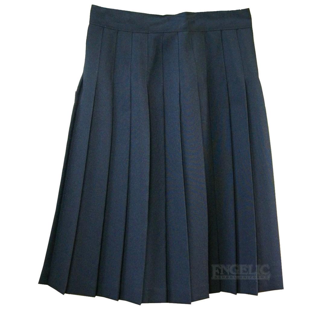 Girls School Uniform Pleated Skirt Navy or Black