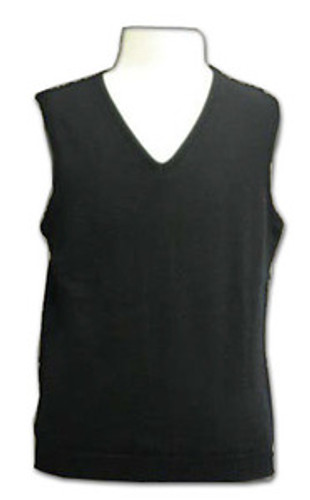 LJ Imports Kids Girls Sleeveless Cotton Sweater Vest  Black