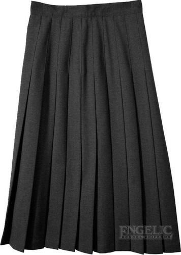 Juniors School Uniform Pleated Skirt Black Poly/Wool