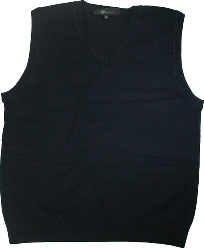 LJ Imports Girls Kids Sleeveless Cotton Sweater Vest | Navy