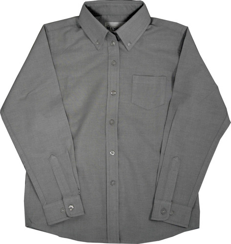 Girls Oxford Blouses Grey