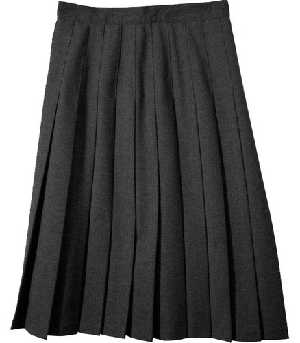 Juniors School Uniform Pleated Skirt  Black Poly Deluxe