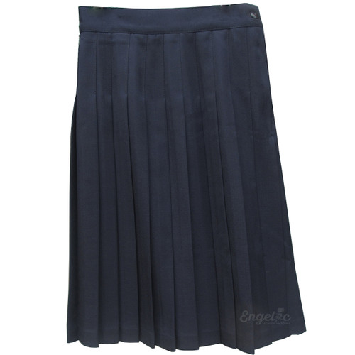 Girls School Uniform Pleated Skirt Poly/Wool