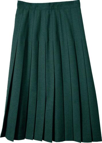 Juniors School Uniform Pleated Skirt Green Poly/Wool SCH