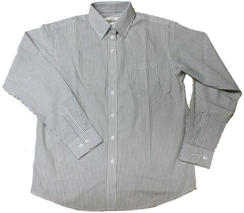 Girls  Broadcloth Striped Blouse Black/White