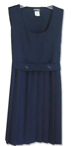 Girls School Uniform Scoop Neck Pleated Jumper