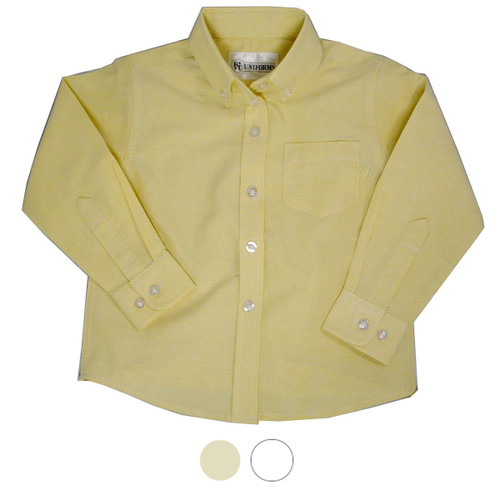 Oxford Girl's School Blouse Colors White or Yellow