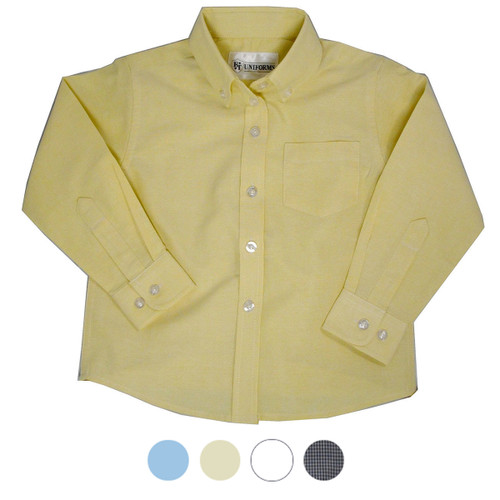 Girl's School Blouse Colors Blue or White or Yellow or Pink or Navy Gingahm