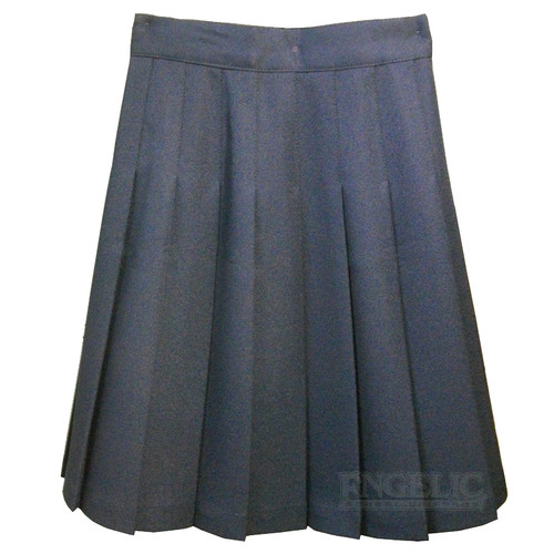 "GIRLS SCHOOL UNIFORM PLEATED SKIRT - (2"" PLEATS)"