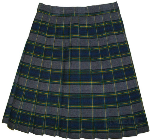 Girls School Uniform Pleated Skirt Plaid #48