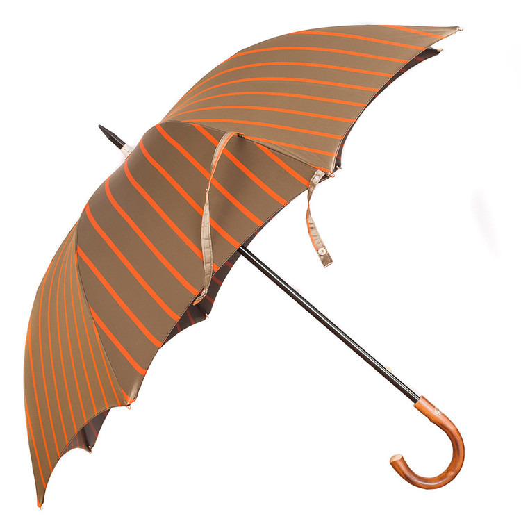 Francesco Maglia Grey and Orange Umbrella
