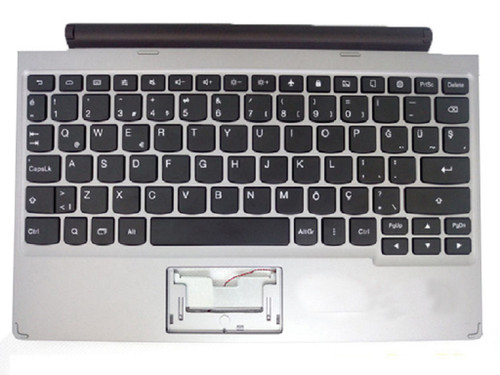 Laptop Palm Rest&keyboard For Lenovo For IdeaPad A10 Turkey TR 90204349 90204545 Silver Without Touchpad New