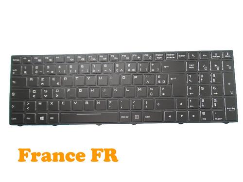 Laptop Backlit Keyboard For Gigabyte Sabre 15 W8 15-K 15-G France FR With Black Frame New