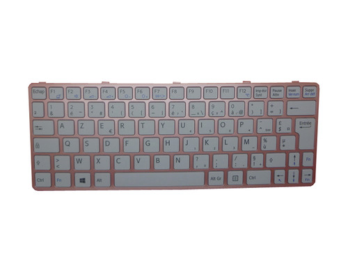 Laptop Keyboard For SONY VAIO SVE11 HMB8820NFK051A 149105411FR 55012G2E1G3-212-G French FR white with pink frame
