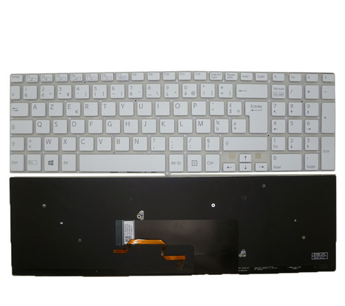 Laptop Keyboard For SONY VAIO SVF152 SVF153 9Z.NAEBQ.10F 149241051FR AEHK9F001203A French FR white with backlit