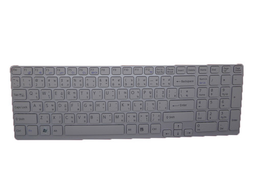 Laptop Keyboard For SONY VAIO SVE151 V133830BS1TI3A 149028861TH 90.4MR07.103 Thailand TI white with frame