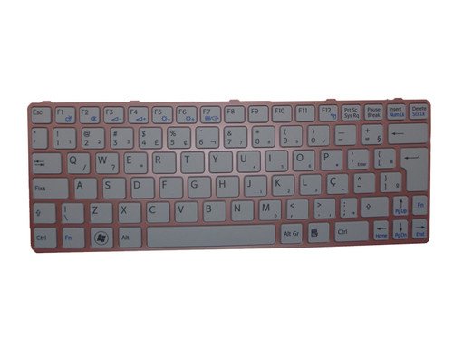 Laptop Keyboard For SONY VAIO SVE11 HMB8812NFE352A 149037611BR 550121HA1B3-212-G Brazilian BR white with pink frame