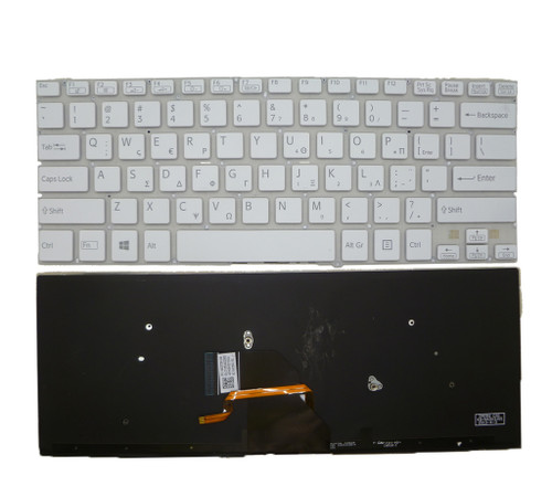 Laptop Keyboard For SONY VAIO SVF14 9Z.NADBQ.10L 149237391GR AEHK8+001203A Greece GK white with backlit
