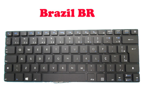 Laptop Keyboard For Entroware apollo 13' 2015 Brazil BR Without Frame