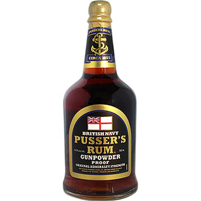 """Pusser's British Navy Rum """"Gun Powder Proof"""" Original Admiralty Strength 54.5% ABV"""