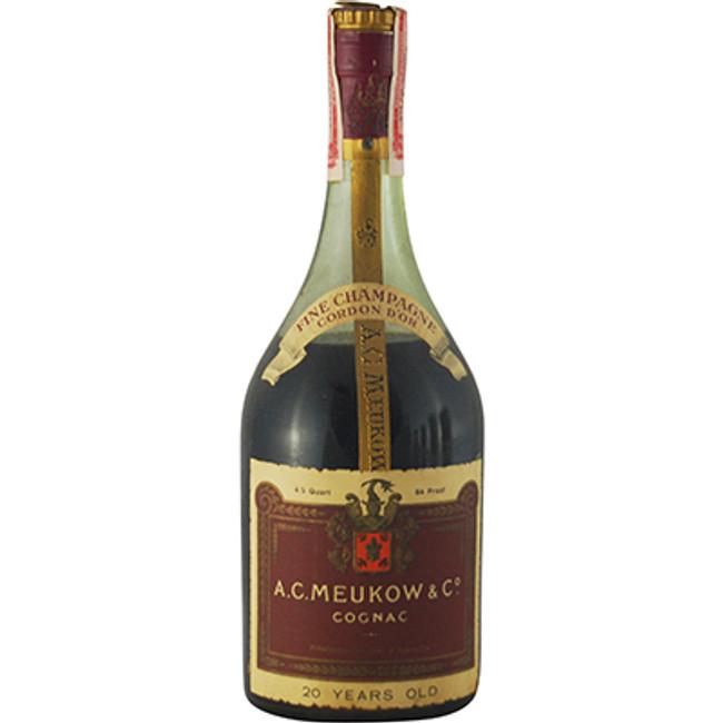 "A. C. Meukow & Co ""Cordon D'Or"" 20 Years Old Fine Cognac 1950s Bottling"