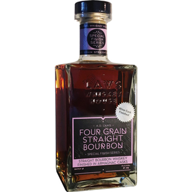 AD Laws Four Grain Straight Bourbon Whiskey Finished In Armagnac Casks