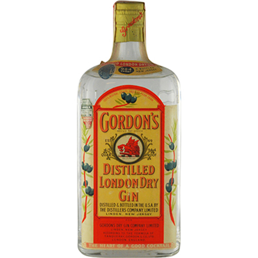 Gordon's Distilled London Dry Gin 94.4 Proof 1930's Bottling, Spring Release Capsule
