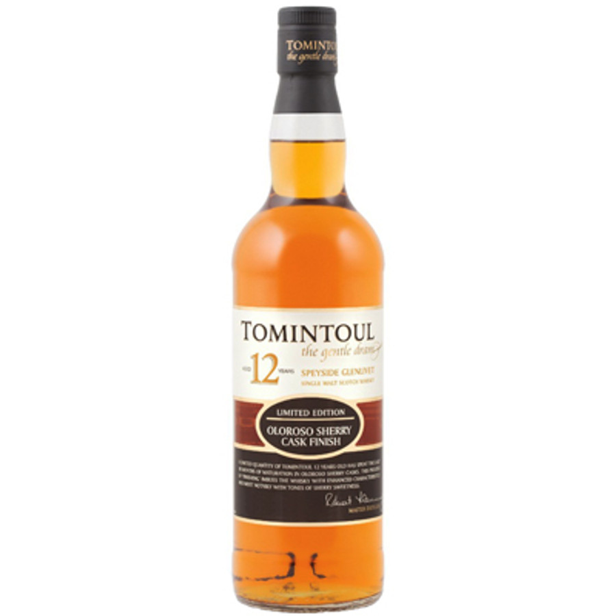 tomintoul 12 years old speyside glenlivet single malt scotch whisky