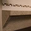 "a completed bench using Innovis 17"" Corner Shelf (item# BT-17) as support bracket"