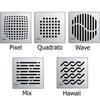 "ACO Premium 6"" Shower Point Drain locking and non-locking grate options"