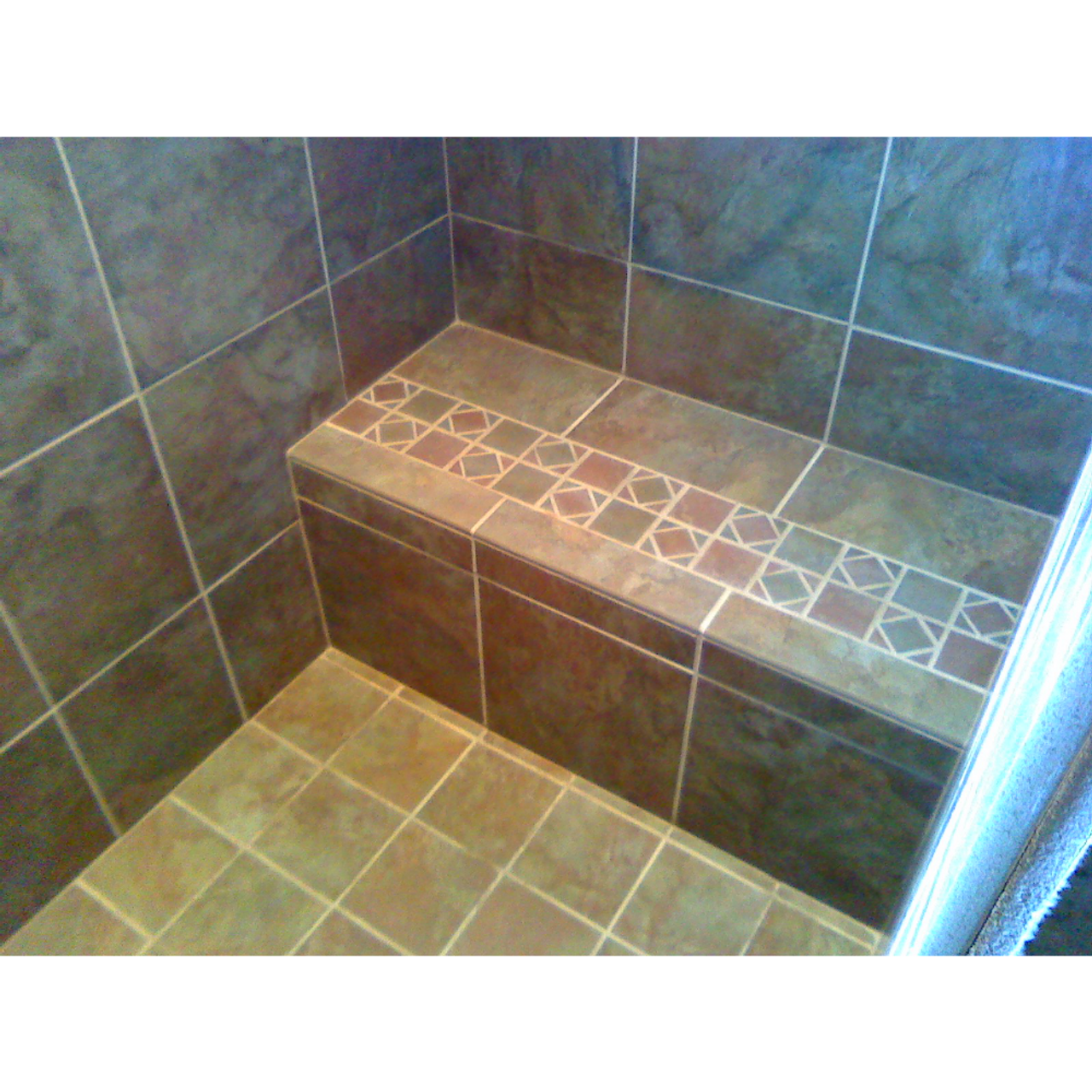 redi shower in shelves dimensions bench a height video install tile seats corner to designs how installation seat build ideas and
