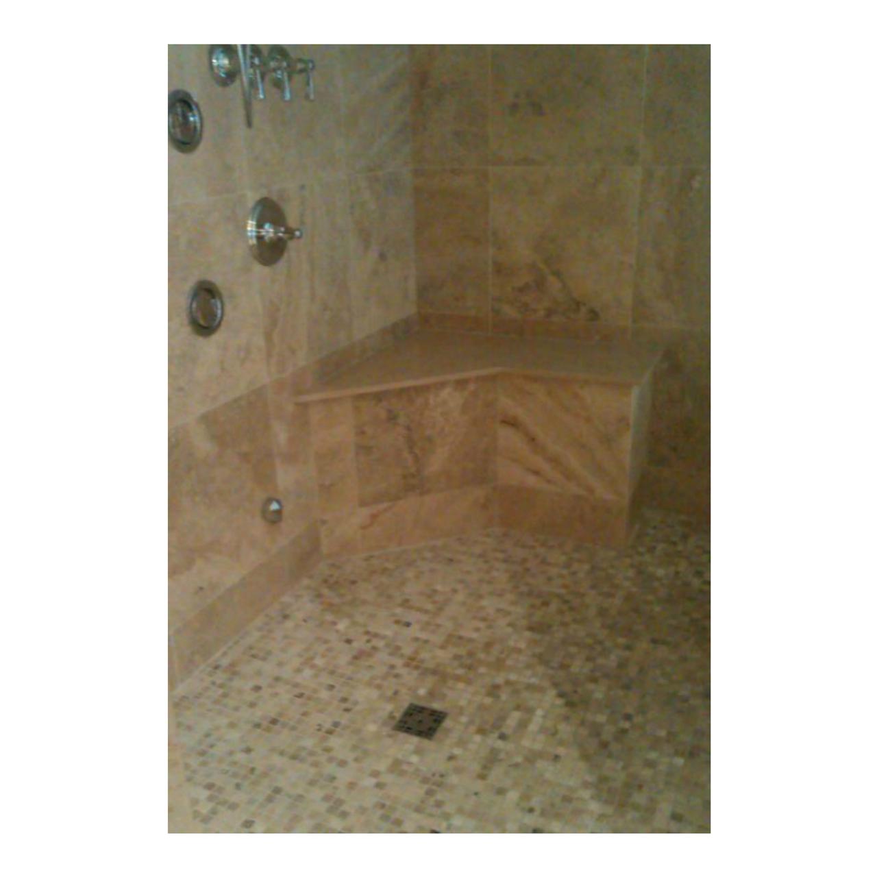 Tile Shower Accessory Kit Solid Bench Shower 2
