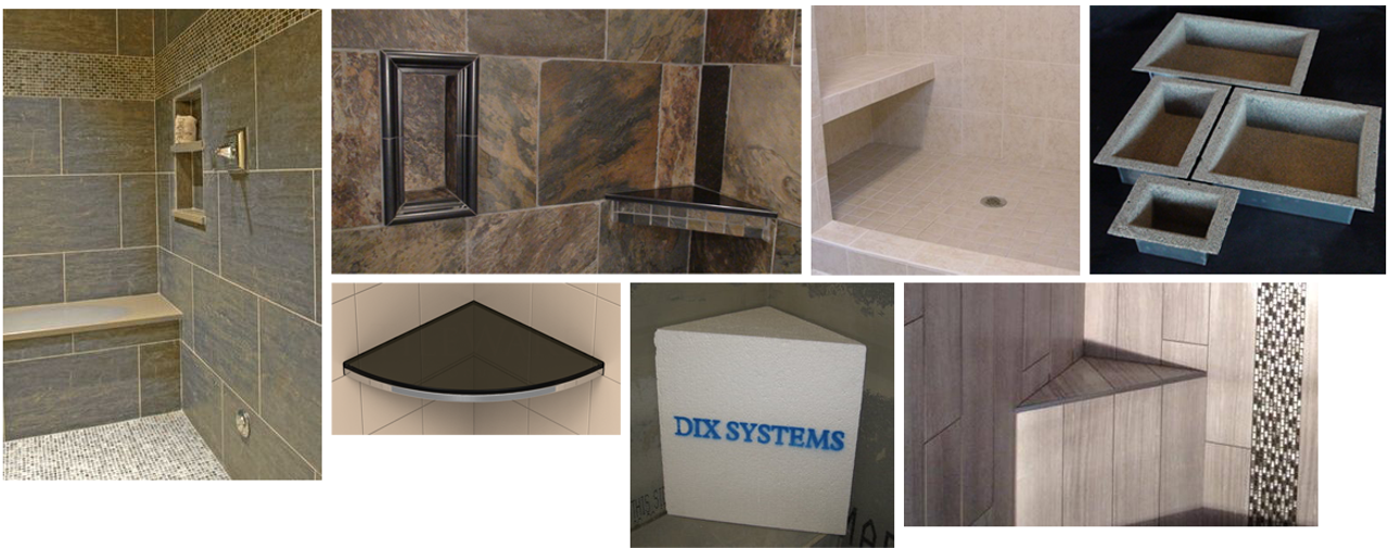 Benches Shelves And Niches - Bathroom niches for sale