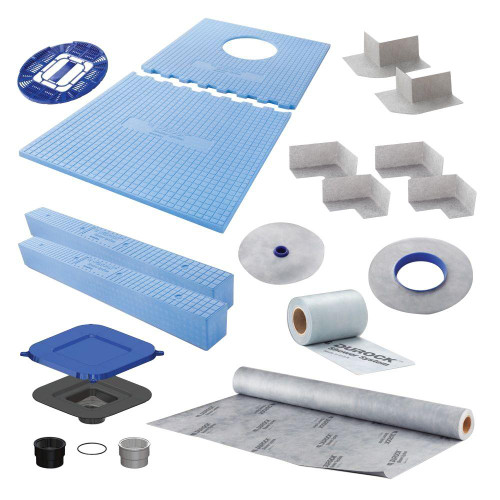 "Durock Shower Kit 32""x60"" Off Set Drain"