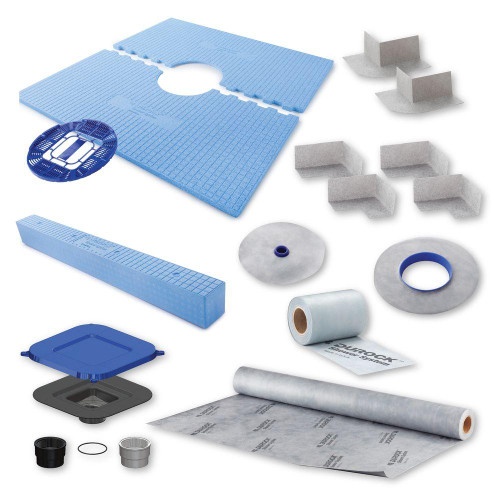 "Durock Shower Kit 48"" x 48"" Center Drain"
