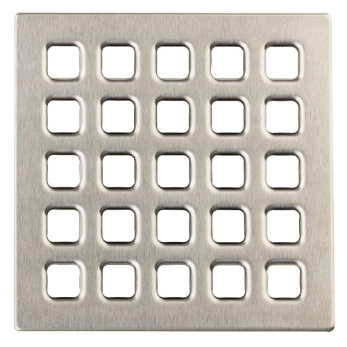 Durock Drain Grate - Brushed Nickle
