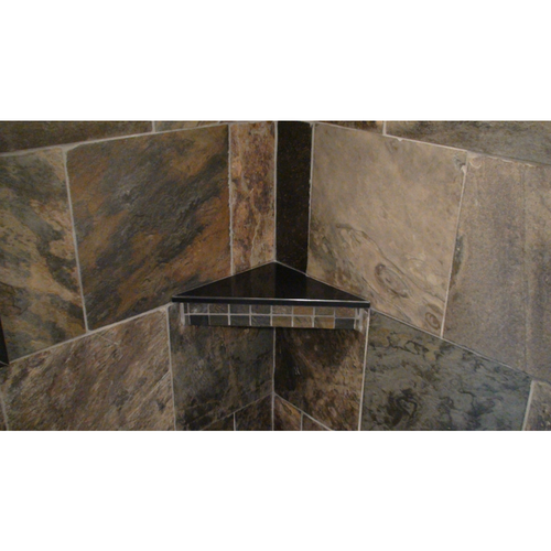 Corner Bench or Shelf Slab in Cultured Granite or Onyx or Marble