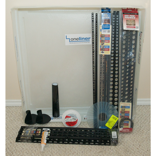 Square OneLiner  Waterproofing Kit with Oatey Round Drain Grate