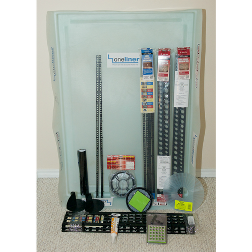 Rectangular OneLiner Complete Kit with EBBE Square Drain Grate