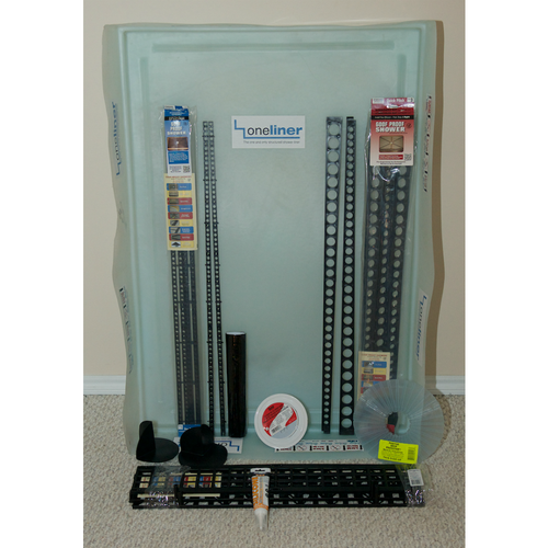 Rectangular OneLiner Complete Kit with Oatey Drain