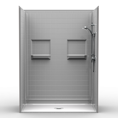 "Phoenix Shower - 4"" Tile - Centre Drain - 48""x34""x82"""