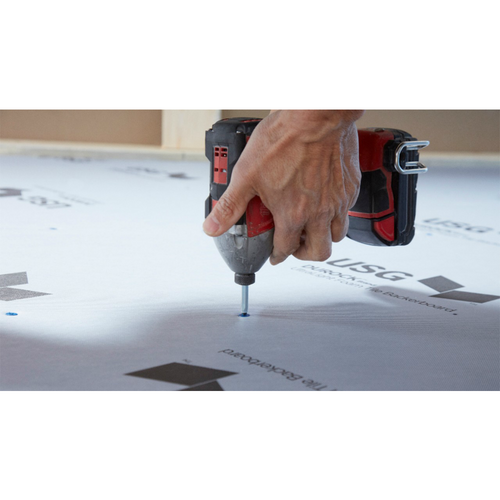 Durock Ultralight Foam Backer Board is easy to install