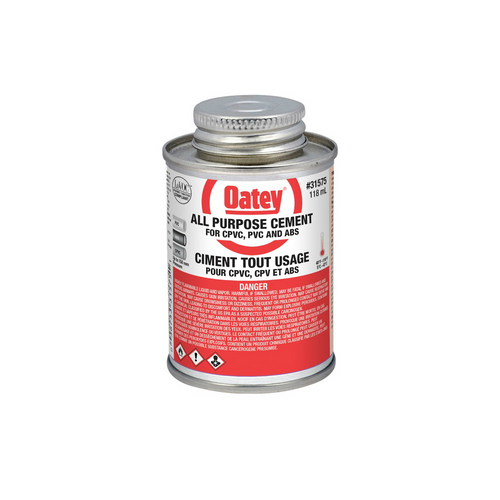 Oatey All Purpose Glue for securing drain assembly to floor pipe