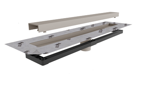 USG Durock and Infinity Linear drain