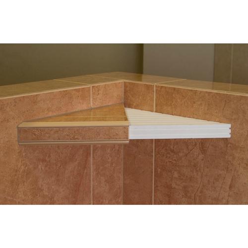 tile ready corner shower shelf by mark e industries. Black Bedroom Furniture Sets. Home Design Ideas